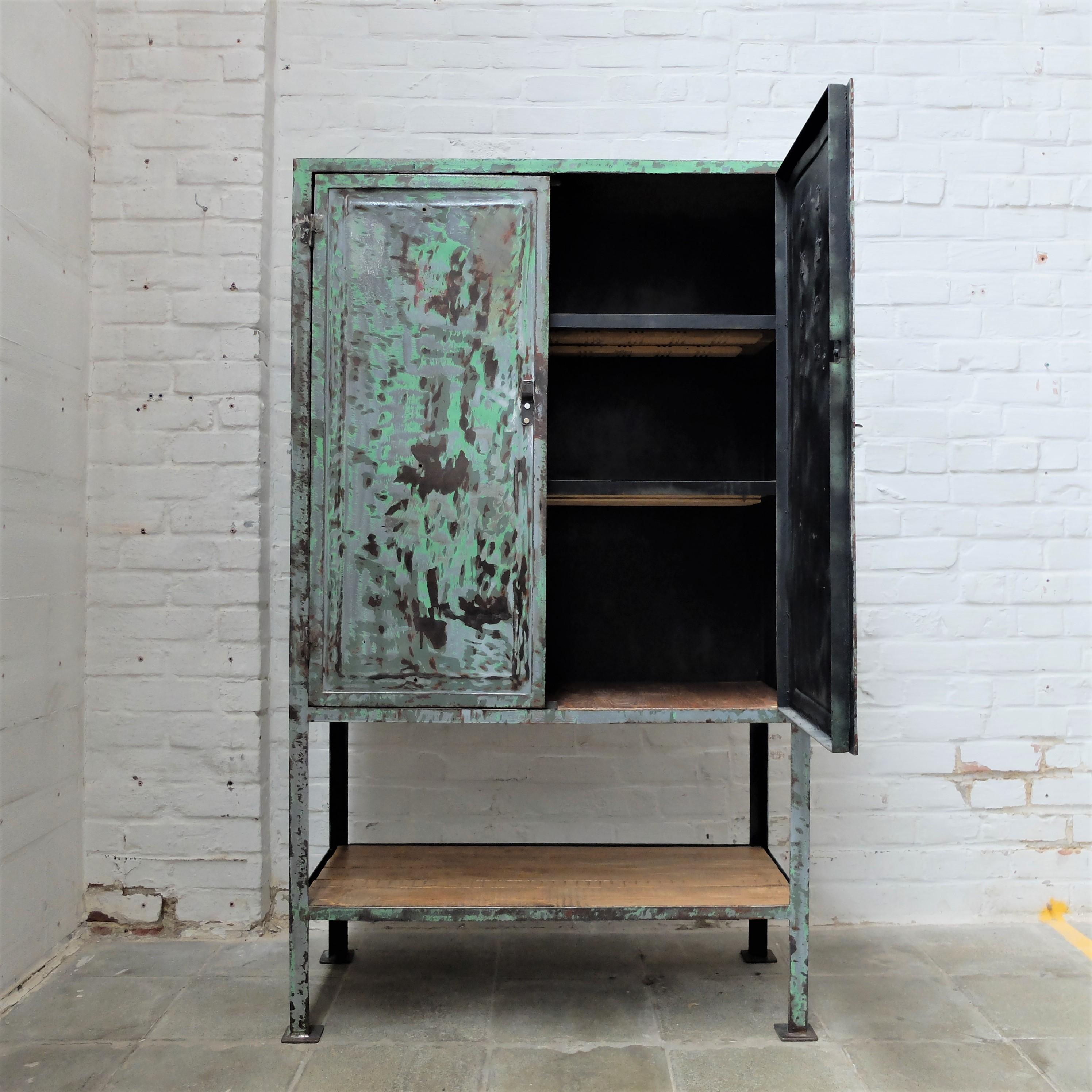 Vintage Industrial Cabinet Bold Design